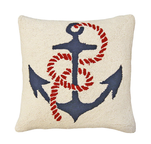 Anchor's Away Hooked Pillow