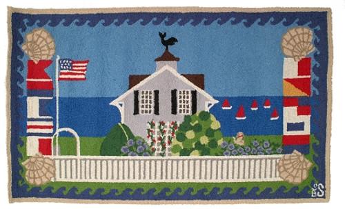 Beach House Hooked Wool Rug