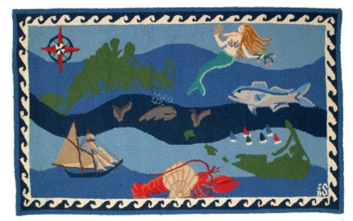 Nantucket Hand Hooked Wool Rug