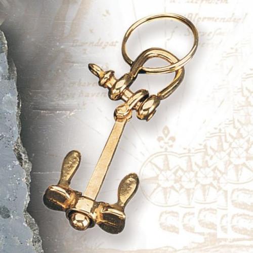 Brass Key Chain - Anchor Chain #2