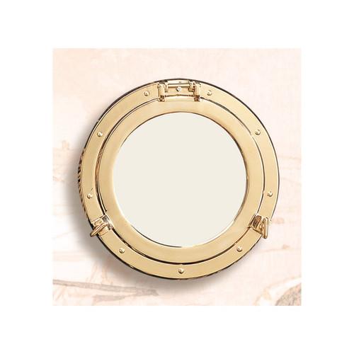 "Deluxe Brass Porthole Window - 11.5"""