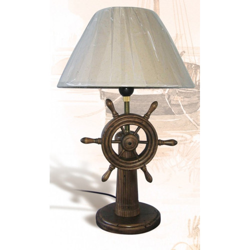 Ship Wheel Table Lamp - 20""