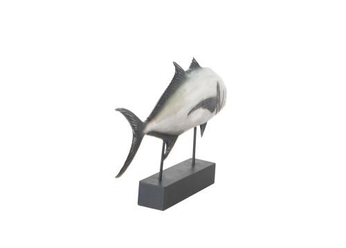 Tuna Fish Statue - Anodized Silver