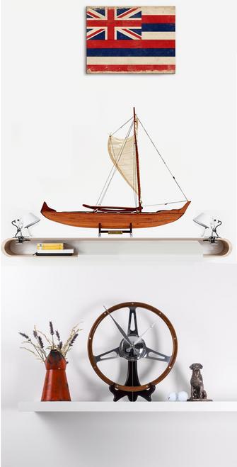 Hawaiian Canoe with Optional Personalized Plaque