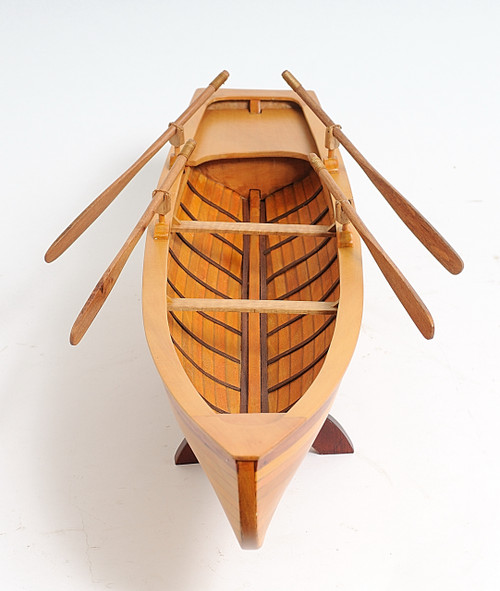 Indian Girl Canoe with Optional Personalized Plaque