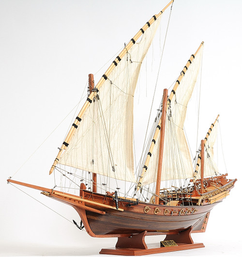 Xebec Sailing Ship with Optional Personalized Plaque