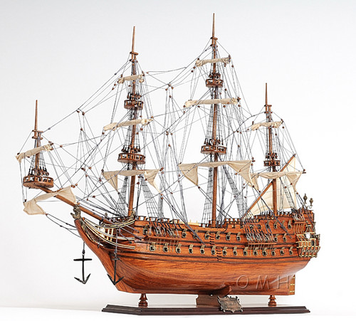 "Zeven Provincien Model Ship - 31.7"" - Optional Personalized Plaque"