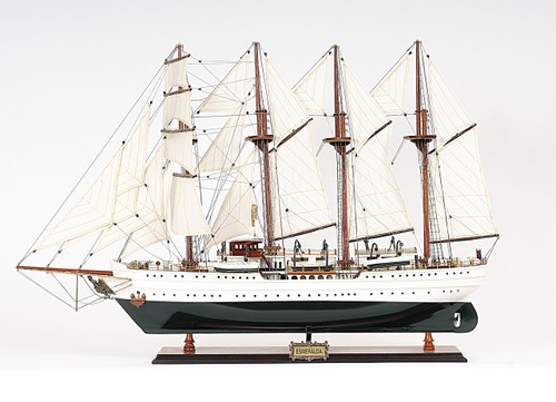 Esmeralda Tall Ship -  Painted -  with Optional Personalized Plaque