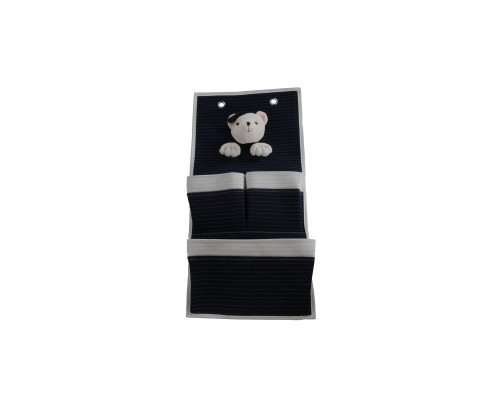 Bear 3-Pocket Wall Hangers - Set of 2
