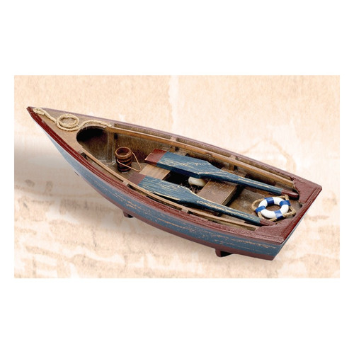 Wooden Boat with Paddles - Blue