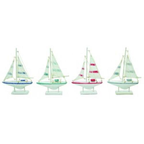 Colorful Mini Sailboats - Set of 12