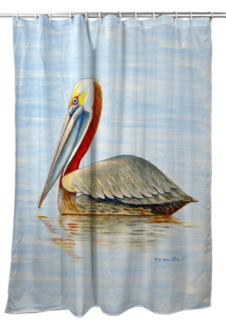 Summer Pelican Shower Curtain