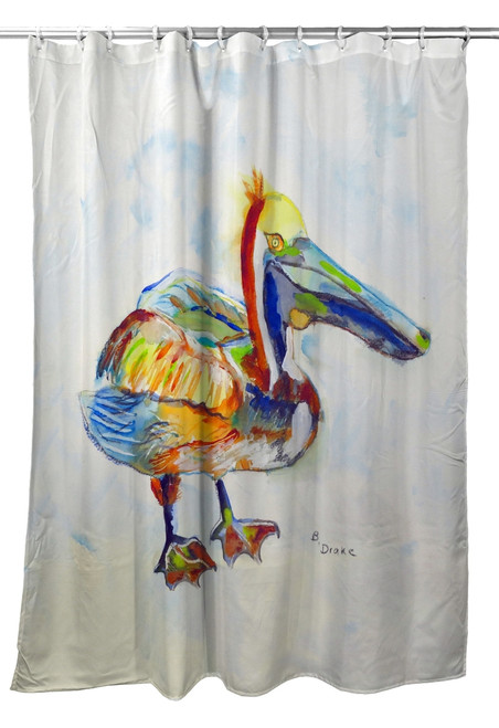 Heathcliff Pelican Shower Curtain