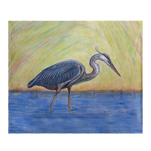 Blue Heron Fleece Throw
