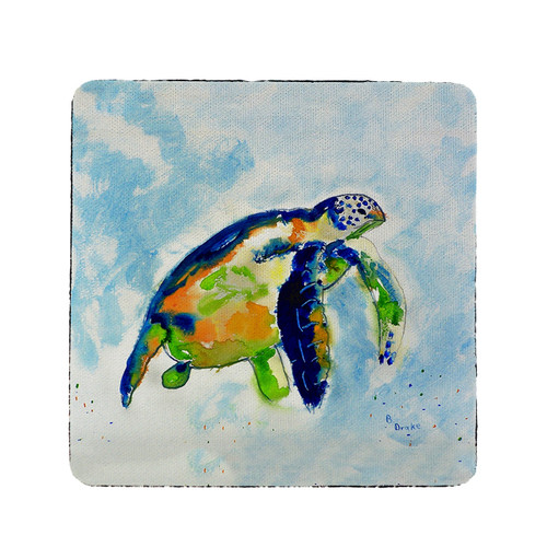 Blue Sea Turtle Coasters - Set of 4