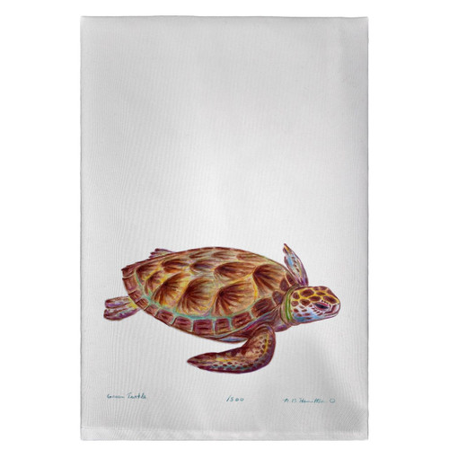 Green Sea Turtle Guest Towels - Set of 4