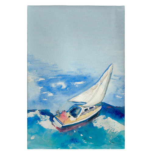 Betsy's Sailboat Guest Towels - Set of 4