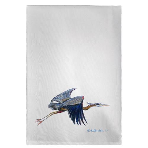 Eddie's Blue Heron Guest Towels - Set of 4