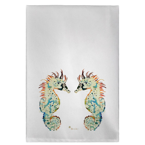 Betsy's Seahorses Guest Towels - Set of 4