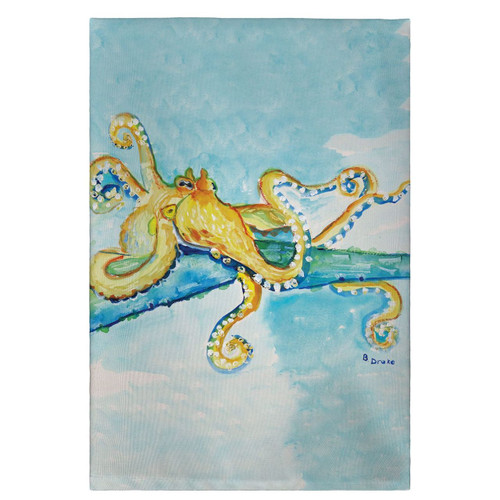Gold Octopus Guest Towels - Set of 4