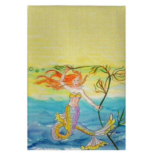 Nautical Beach Coral Ocean Mermaid Kitchen Towel