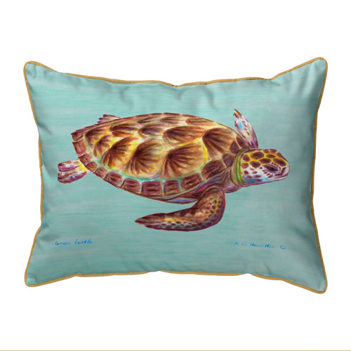 Green Sea Turtle Teal Pillows