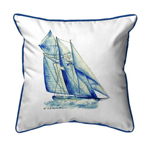 Blue Sailboat Indoor/Outdoor Pillow