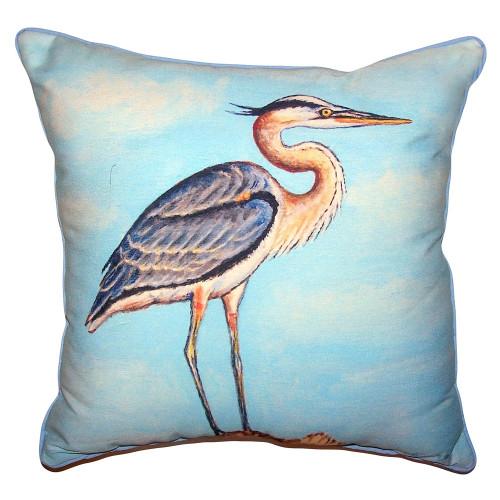 Blue Heron On Stump Pillows