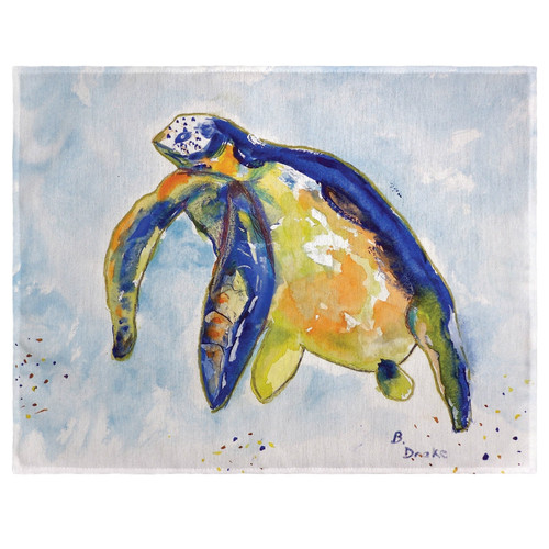 Blue Sea Turtle Left Place Mats - Set of 2