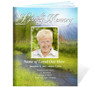 Tranquil Funeral Booklet Template (Legal Size)