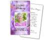 Lavender Prayer Card Template