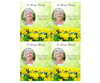 Daffodils DIY Funeral Card Template front
