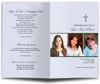 Contemporary Cross Letter Single Fold Program Template