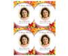 Flora Enlighten DIY Funeral Card Template front