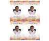 Kente DIY Funeral Card Template front