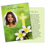 Plumeria DIY Funeral Card Template
