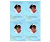 Princess DIY Funeral Card Template front