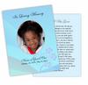 Princess DIY Funeral Card Template