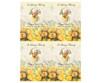 Saffron DIY Funeral Card Template front