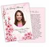 Spring DIY Funeral Card Template