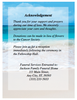 Carribean Folded Funeral Card Template back