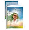 Gardener Folded Funeral Card Template
