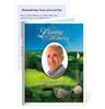 Golfer Small Folded Memorial Card Template
