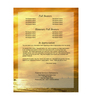 Island Folded Funeral Card Template back cover