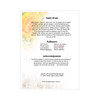 Joyful Folded Funeral Card Template back page