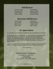 Lotus Small Folded Memorial Funeral Card Template back view
