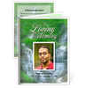 Majestic Small Folded Memorial Funeral Card Template
