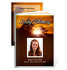 Renewal Small Folded Funeral Card Template