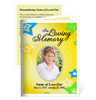 Starry Small Folded Funeral Card Template