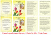 Sunny Small Folded Funeral Card Template inside view